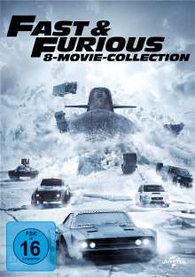 Fast & Furious (8-Movie Collection), 8 DVDs