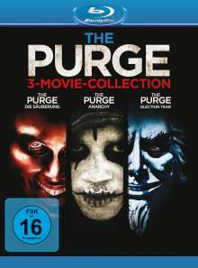 The Purge 3-Movie-Collection (Blu-ray), 3 Blu-ray Discs