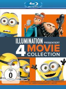 Ich - Einfach unverbesserlich 1-3 & Minions (Blu-ray), 4 Blu-ray Discs
