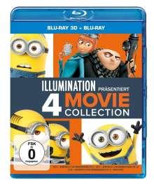 Ich - Einfach unverbesserlich 1-3 & Minions (3D & 2D Blu-ray), 8 Blu-ray Discs