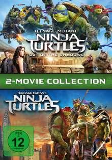 Teenage Mutant Ninja Turtles / Teenage Mutant Ninja Turtles Out Of The Shadows, 2 DVDs