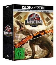 Jurassic Park 1-4: 25th Anniversary Collection (Ultra HD Blu-ray & Blu-ray im Steelbook)