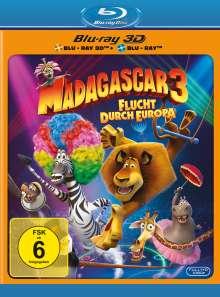 Madagascar 3 - Flucht durch Europa (3D & 2D Blu-ray), 2 Blu-ray Discs