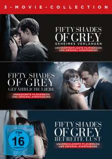 Fifty Shades of Grey 1-3 (Movie Collection), 3 DVDs