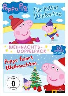 Peppa Pig - Weihnachtsdoppelpack (Ein kalter Wintertag / Peppa feiert Weihnachten), 2 DVDs
