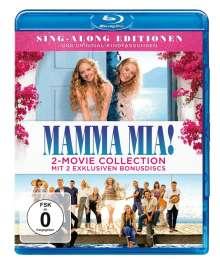 Mamma Mia! / Mamma Mia! Here we go again (Special Edition mit 2 Bonus-Discs) (Blu-ray), 2 Blu-ray Discs und 2 DVDs