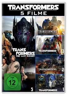 Transformers 1-5, 5 DVDs