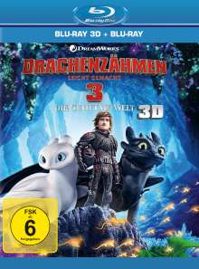 Drachenzähmen leicht gemacht 3 - Die geheime Welt (3D & 2D Blu-ray), 2 Blu-ray Discs