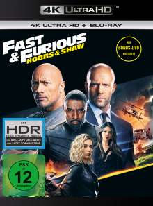 Fast & Furious: Hobbs & Shaw (Ultra HD Blu-ray & Blu-ray), 1 Ultra HD Blu-ray, 1 Blu-ray Disc und 1 DVD