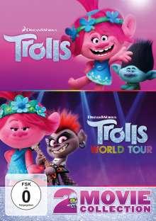 Trolls / Trolls World Tour, 2 DVDs