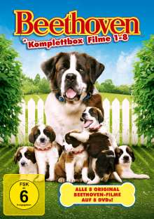 Ein Hund namens Beethoven (8 Filme Komplettbox), 8 DVDs