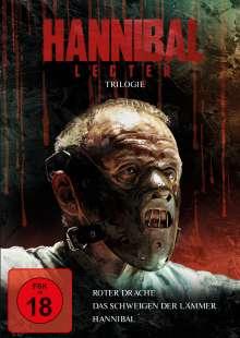 Hannibal Lecter Trilogie (Das Schweigen der Lämmer / Hannibal / Roter Drache), 3 DVDs