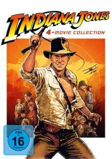 Indiana Jones 1-4, 4 DVDs