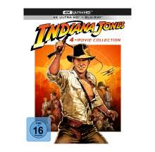 Indiana Jones 1-4 (Ultra HD Blu-ray & Blu-ray im Digipack), 4 Ultra HD Blu-rays und 5 Blu-ray Discs