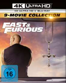 Fast & Furious (9-Movie Collection) (Ultra HD Blu-ray & Blu-ray), 9 Ultra HD Blu-rays und 9 Blu-ray Discs
