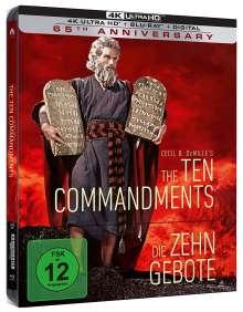 Die zehn Gebote (Ultra HD Blu-ray im Steelbook), 1 Ultra HD Blu-ray und 2 Blu-ray Discs