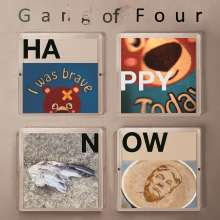 Gang Of Four: Happy Now (Limited-Edition) (White/Black Splattered Vinyl), LP
