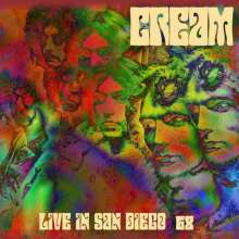 Cream: Live In San Diego '68 (180g) (Limited-Numbered-Edition) (Red & Purple Marbled Vinyl), 2 LPs