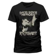David Bowie: Heroes Earls Court (T-Shirt,Schwarz,Größe S), T-Shirt