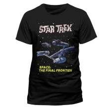 Star Trek: Final Frontier (T-Shirt,Schwarz,Größe S), T-Shirt
