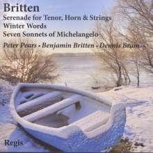 Benjamin Britten (1913-1976): Liederzyklen, CD
