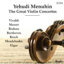 Yehudi Menuhin - The Great Violin Concertos, 3 CDs