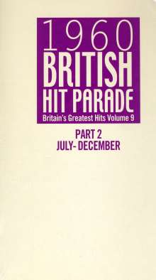 1960 British Hit Parade Part 2: July - December (Vol. 9), 6 CDs