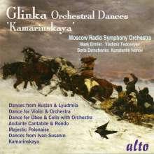 """Michael Glinka (1804-1857): Orchesterwerke """"Kamarinskaya"""", CD"""