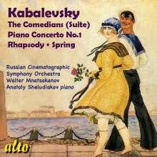 Dimitri Kabalewsky (1904-1987): Klavierkonzert Nr.1, CD