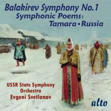 Mily Balakireff (1837-1910): Symphonie Nr.1, CD