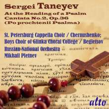 Serge Tanejew (1856-1915): At the Reading of a Psalm op.36, CD