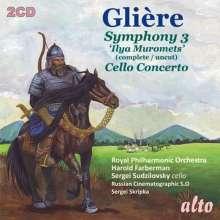"""Reinhold Gliere (1875-1956): Symphonie Nr.3 """"Ilya Murometz"""", 2 CDs"""