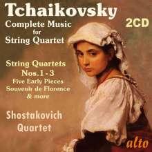 Peter Iljitsch Tschaikowsky (1840-1893): Die Werke für Streichquartett, 2 CDs