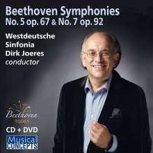 Ludwig van Beethoven (1770-1827): Symphonien Nr.5 & 7, 1 CD und 1 DVD
