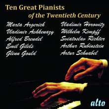 10 Great Pianists of the 20th Century, 10 CDs