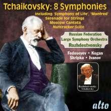 Peter Iljitsch Tschaikowsky (1840-1893): 8 Symphonien, 6 CDs