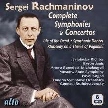 Sergej Rachmaninoff (1873-1943): Orchesterwerke, 6 CDs