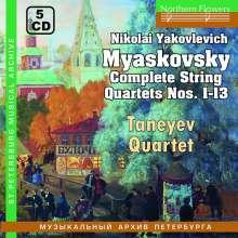 Nikolai Miaskowsky (1881-1950): Sämtliche Streichquartette, 5 CDs