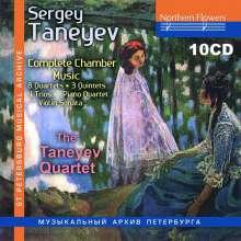 Serge Tanejew (1856-1915): Kammermusik (Gesamtaufnahme), 10 CDs