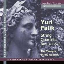 Yuri Alexandrovich Falik (1936-2009): Streichquartette Nr.3-6, CD