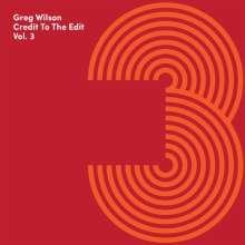 Greg Wilson: Credit To The Edit Vol.3, CD