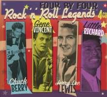 Four By Four: Chuck Berry, Gene Vincent, Little Richard & Jerry Lee Lewis, 4 CDs