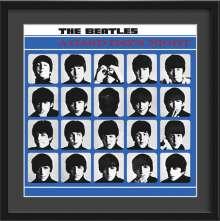 The Beatles: A Hard Day's Night – Kunstdruck im Holzrahmen (Schwarz, 65 cm), Merchandise