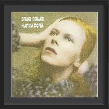 David Bowie: Hunky Dory – Kunstdruck im Holzrahmen (Schwarz, 65 cm), Merchandise