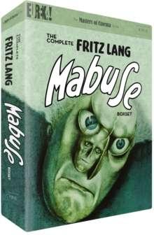 The Complete Fritz Lang Mabuse Box Set (UK Import mit deutscher Tonspur), 4 DVDs