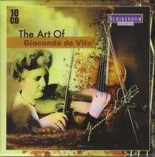 The Art of Gioconda de Vito, 10 CDs