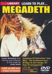 Learn to play Megadeath  [2 DVDs], 2 DVDs