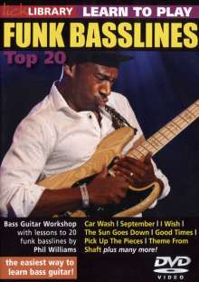 Learn to play Funk Bassline - Top 20, DVD