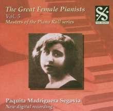 Piano Roll Recordings - Paquita Madriguera Segovia, CD