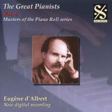 Piano Roll Recordings - Eugene d'Albert, CD